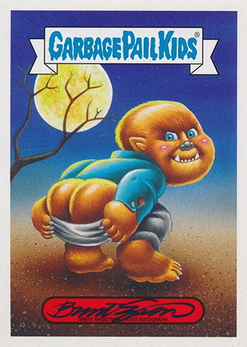 Garbage Pail Kids Oh The Horror Sticker 14b 80's Horror Chris Keeper