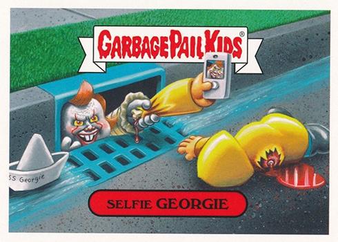 2018 Topps Garbage Pail Kids Oh the Horror-ible Modern Horror Selfie Georgie