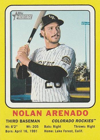 2018 Topps Heritage High Number Baseball 1969 Collector Card Nolan Arenado