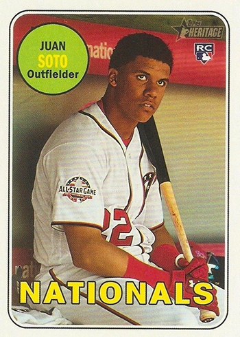 2018 Topps Heritage High Number Baseball 502 Juan Soto RC