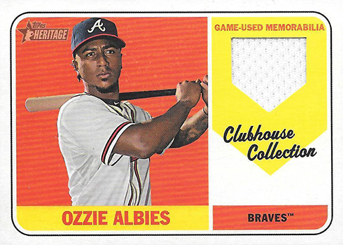 2018 Topps Heritage High Number Baseball Clubhouse Collection Relics Ozzie Albies