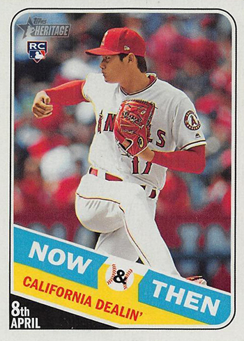 2018 Topps Heritage High Number Baseball Now and Then Shohei Ohtani