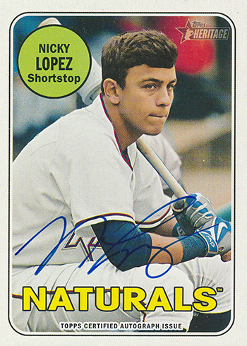 2018 Topps Heritage Minors Real One Autographs Nicky Lopez