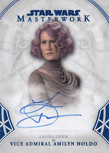 2018 Topps Star Wars Masterwork Autographs Blue Foil Laura Dern