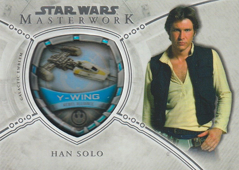 2018 Topps Star Wars Masterwork Commemorative Vehicle Patch Han Solo