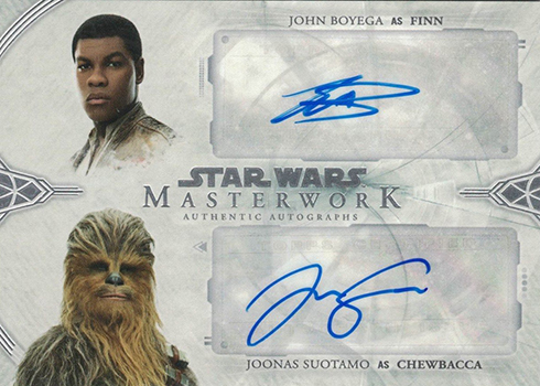 2018 Topps Star Wars Masterwork Dual Autographs John Boyega Joonas Suotamo