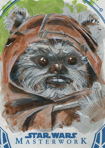 2018 Topps Star Wars Masterwork Sketch Card Scotchmer