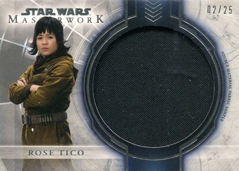 2018 Topps Star Wars Masterwork Source Fabric Material Rose Tico