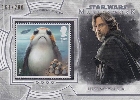 2018 Topps Star Wars Masterwork Stamp Card Luke Skywalker Porg