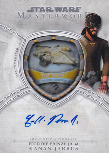 2018 Topps Star Wars Masterwork Vehicle Patch Autograph Freddie Prinze Jr