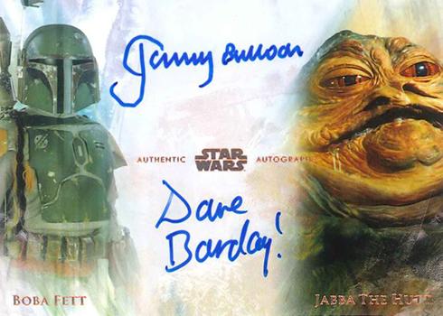 2018 Topps Star Wars Stellar Signatures Dual Autographs David Barclay Jeromy Bulloch