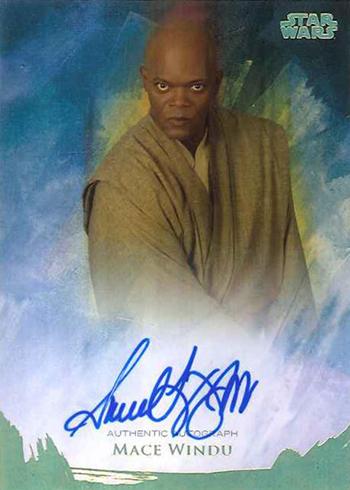 2018 Topps Star Wars Stellar Signatures Samuel L Jackson