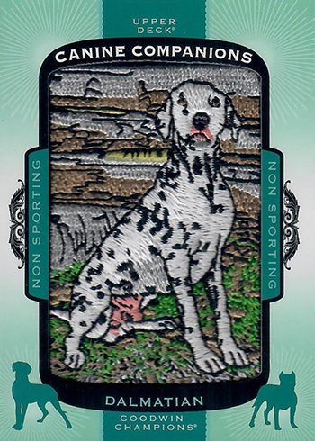 2018 Upper Deck Goodwin Champions Canine Companions Dalmation