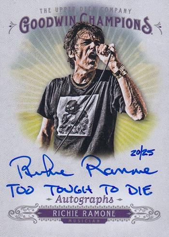 2018 Upper Deck Goodwin Champions Inscription Autographs Richie Ramone