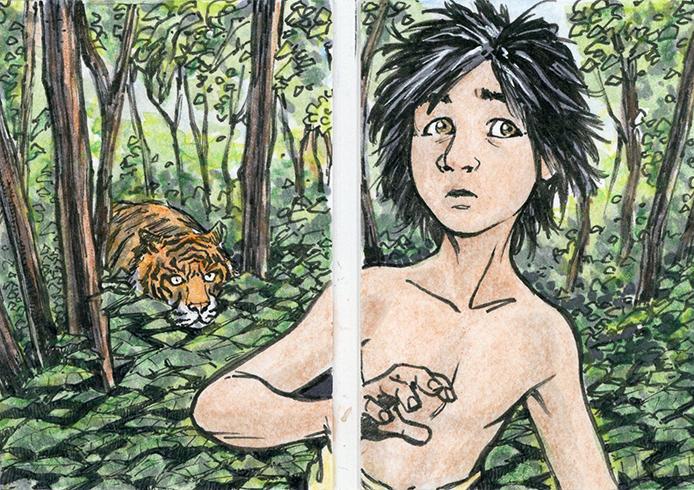 2018 Upper Deck Goodwin Champions Jungle Book Dual Sketch Booklet