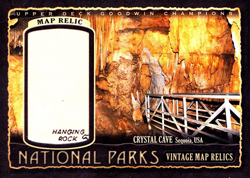 2018 Upper Deck Goodwin Champions National Parks Vintage Map Relics Crystal Cave