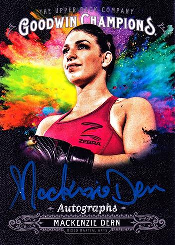 2018 Upper Deck Goodwin Champions Splash of Color Autographs Mackenzie Dern