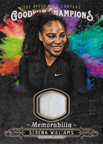 2018 Upper Deck Goodwin Champions Splash of Color Memorabilia Premium Serena Williams