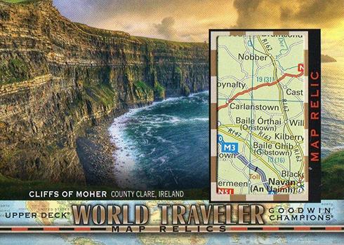 2018 Upper Deck Goodwin Champions World Traveler Map Relics Cliffs of Moher