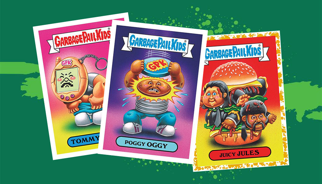 Garbage Pail Kids We Hate the 90/'s 90/'s TV 1-17 your choice of 3