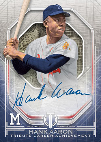 2019 Topps Tribute Baseball Tribute Career Achievement Award Autograph