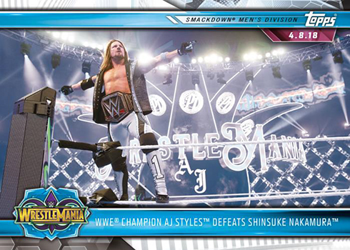 2019 Topps WWE Road to WrestleMania Base AJ Styles