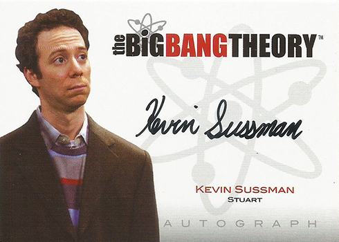 Big Bang Threory Seasons 1 and 2 Autographs Kevin Sussman