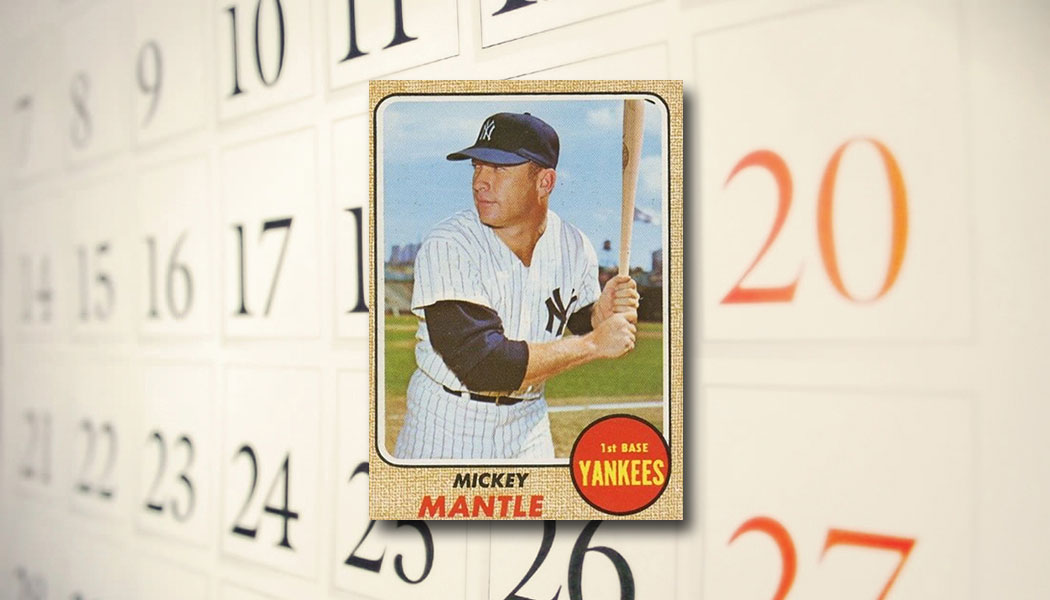 The Daily 1968 Topps Mickey Mantle 280 Beckett News