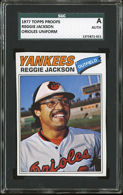 a22d21133 Reggie Jackson and His Lost 1977 Topps Baltimore Orioles Card