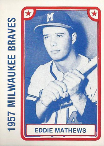 1980 Braves 1957 TCMA Eddie Mathews