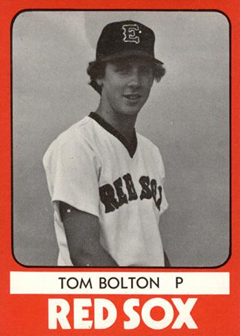 1980 Elmira Pioneer Red Sox TCMA Tom Bolton