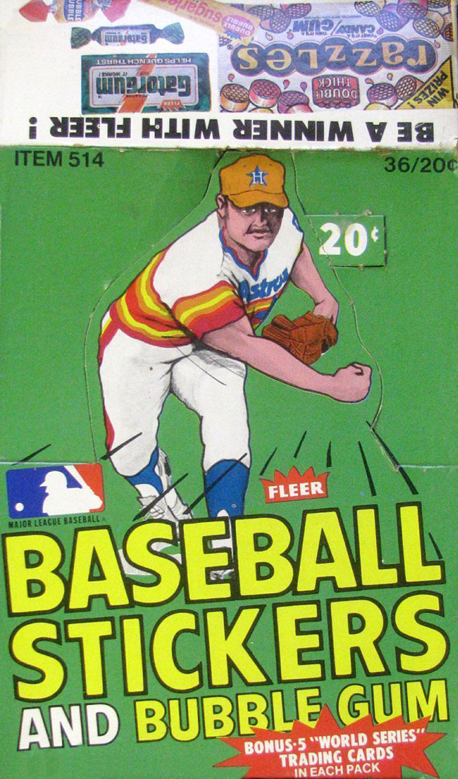 1980 Fleer Team Stickers Checklist And Baseball Card Details