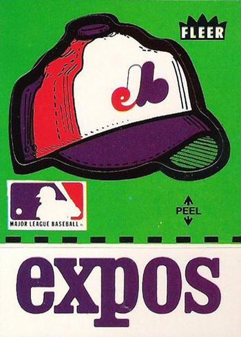 1980 Fleer Team Stickers Expos Cap