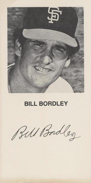 1980 Giants Team Issue Bill Bordley