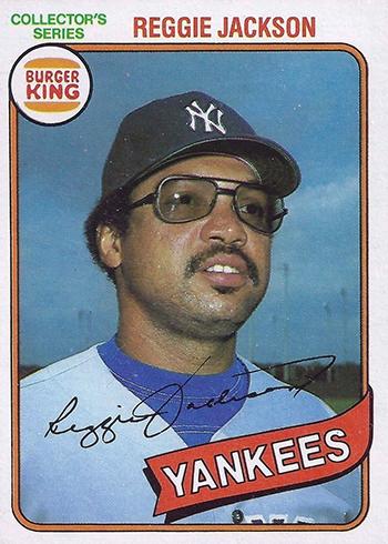 1980 Topps Burger King Pinch Hit and Run Reggie Jackson