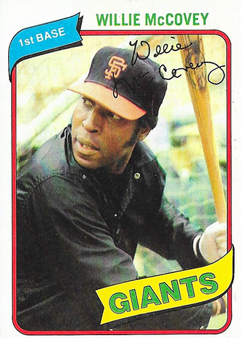 1980 Topps Willie McCovey