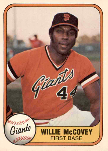 Willie McCovey Cards - 1981 Fleer