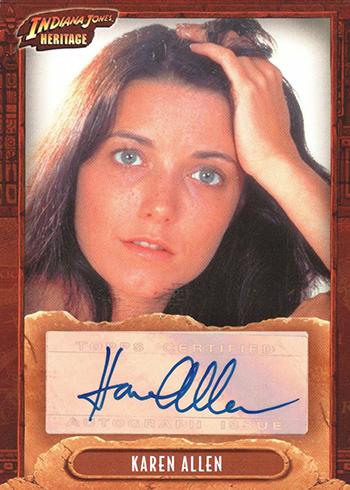 2008 Topps Indiana Jones Heritage Karen Allen Autograph