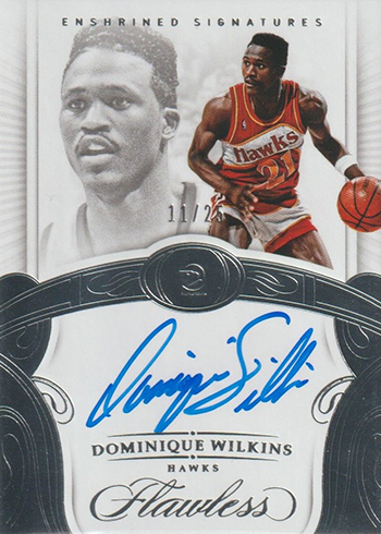 2017-18 Panini Flawless Basketball Enshrined Signatures Dominique Wilkins