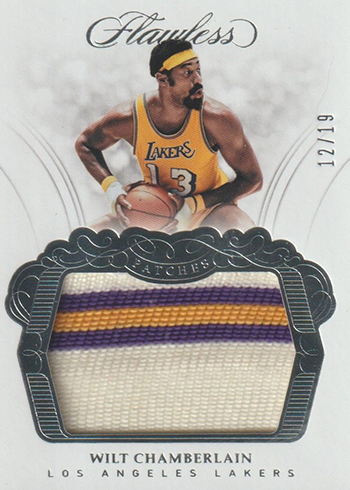 2017-18 Panini Flawless Basketball Patches Wilt Chamberlain