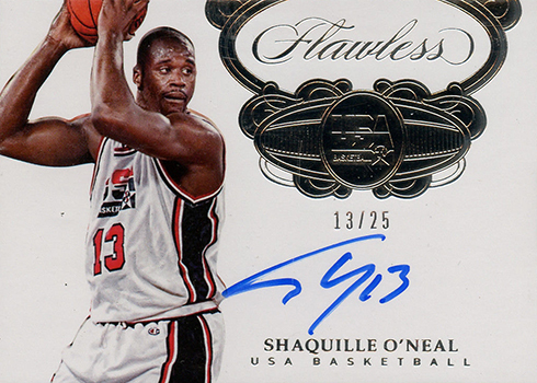 2017-18 Panini Flawless Basketball USA Signatures Shaquille ONeal