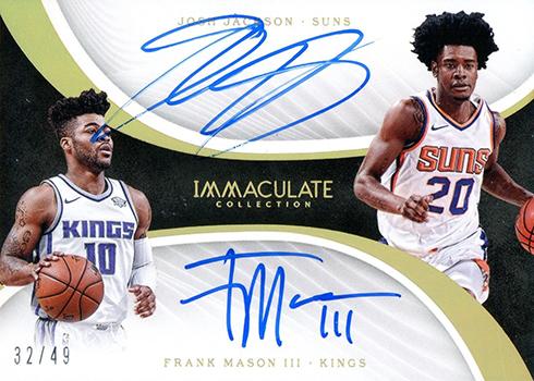 2017-18 Panini Immaculate Basketball Dual Autographs Josh Jackson Frank Mason
