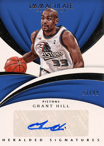 2017-18 Panini Immaculate Basketball Heralded Signatures Grant Hill