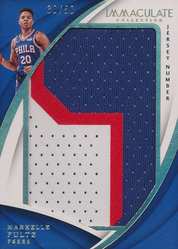 2017-18 Panini Immaculate Basketball Jersey Numbers Markelle Fultz