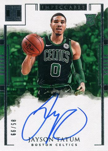 2017-18 Panini Impeccable Basketball 102 Jayson Tatum Autograph