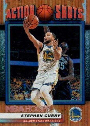 2018-19 Panini NBA Hoops Basketball Action Shots Stephen Curry