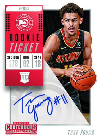 2018-19 Panini Contenders Basketball Rookie Season Ticket Autograph