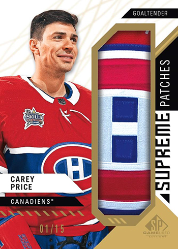 2018-19 SP Game Used Hockey Supreme Patches