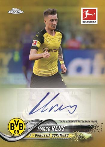2018-19 Topps Chrome Bundesliga Soccer Autographs Gold Refractors