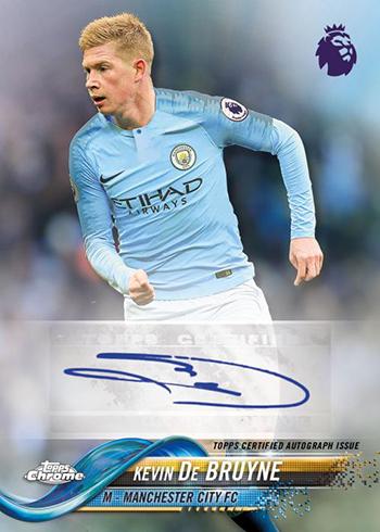 2018-19 Topps Chrome Premier League Soccer Autographs